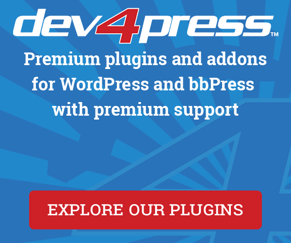 Dev4Press - Premium plugins for your WordPress and bbPress powered website.